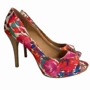Sz 7 Christian Siriano Floral Print High Heels